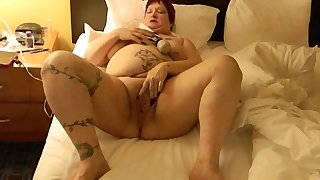 This BBW could eat you overseas and she loves masturbating with her Hitachi