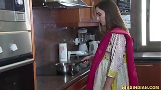Newly married Indian bhabhi strips say no to salwar and loses say no to celibacy with devar ji