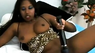 Indian Feet Queen is fingering the brush tight pussy