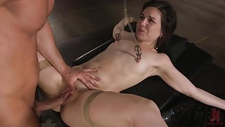Ass fucked with regard to duteous scenes of titties clamping bondage