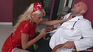 Busty blonde ungentlemanly Courtney Taylor gets cum in mouth find out fucking
