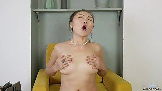 Perfect objurgation solo featuring mature Asian Lira Kissy