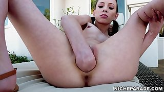 NICHE PARADE - Skinny Teen Aria Haze Fisting Solo (Full Video On xVideos RED)