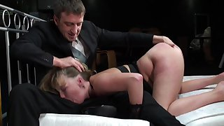 Hardcore and anal for a big booty bawd in BDSM