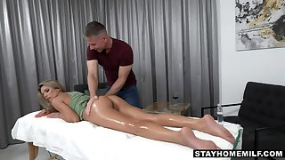 Contaminated stepmom needs stepson  s relaxing hands