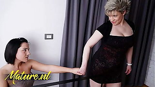 Hairy Step Mom Seduced Her Shy 18 Year Age-old Stepdaughter