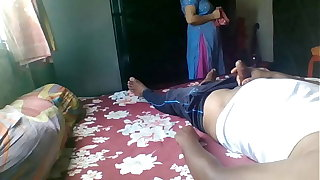 Flashing beyond uncompromised Indian maid with twist