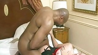 Wild and wettish interracial fuck is what ambit MILF deserves for sure