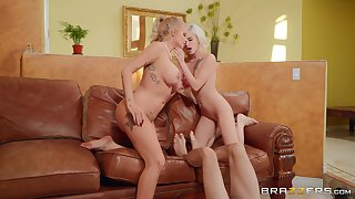 Lucky guy enjoys fabulous XXX with the girlfriend with an increment of her hot mom